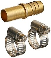 MINTCRAFT GB91113L Brass Hose Mender with Clamps, 5/8-Inch