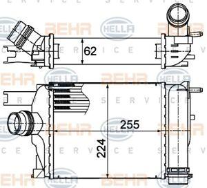 Intercooler fits RENAULT CLIO / CAPTUR 03/2013 on Mahle 8ML376988154