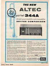 1957 Altec Quartet 344A Hi-Fi Amplifier Pre-Amp Vtg Print Ad