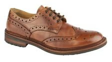 MENS SIZE 7 8 9 10 11 12 ANTIQUE BROWN BROGUE GOODYEAR WELTED COMMANDO SOLE SHOE