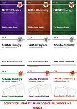 GCSE EDEXCEL TRIPLE SCIENCE PHYSICS CHEMISTRY BIOLOGY REVISION PRACTICE BOOKS
