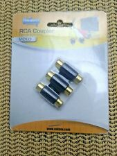3 RCA AV Audio Video Female to Female Jack Coupler Adapter 3RCA Connector (E001)