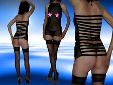 Sexy erotisches Minikleid, schwarz, transparent, Dessous, Gr. S/ M/ L, NEU