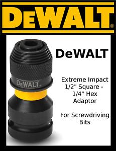 "DeWALT Extreme Impact 1/2"" Square to 1/4"" Hex Adaptor DT7508"