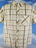 THE NORTH FACE Button Up Shirt Men's Large Cotton Plaid S/S