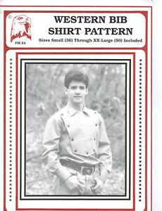 Eagle's View Western Bib Shirt Pattern