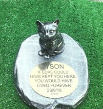 Cat Memorial  pet loss gift. Cat Loss Beloved pet -  Gravestone new 3
