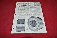 Lorain Crane roller Bearing Front Turntalbe Rollers Dealer's Brochure RPMD