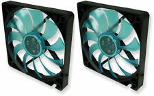 2 X Gelid Solutions Slim 12 Uv Azul, Silent Slim De 120 Mm Uv Reactivo Funda Ventiladores