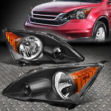 FOR 07-11 HONDA CRV CR-V OE STYLE BLACK HOUSING AMBER CORNER HEADLIGHTS LAMPS