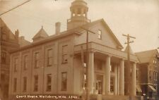 E93/ Wellsburg West Virginia RPPC Postcard c1910 Court House Building