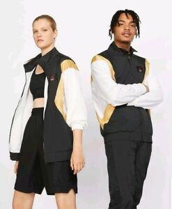 Air Jordan Flight Lightweight Warm-Up Jacket Sz 2XL Black/Gold/White AO0555 011