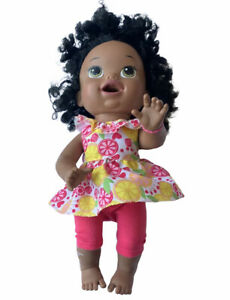 Baby Alive Super Snacks Snackin Sara Doll Black Hispanic Bilingual Talks Eats