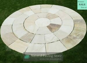 Sandstone Fossil Mint 3m Circle Natural Indian Stone Patio Paving