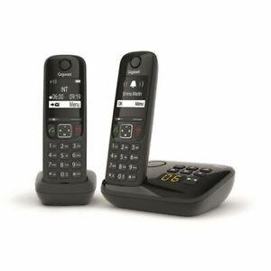 GIGASET Téléphone Fixe AS690 A Duo Noir