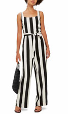 Top Shop Black and White stripe jumpsuit Size 8 RTL $130.00