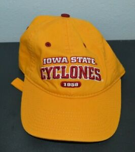 IOWA STATE CYCLONES Yellow The Game Dad Strapback Hat Mens Adult