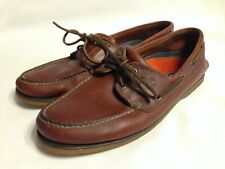 Timberland 106321 Casual Brown Leather Mens Moccasin Deck Shoes Size 12N
