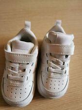 Zapatos Bebé Nike Court Borough Baja 2 BQ5453 100 Blanco Tenis Deportivas desgarro Talla 4.5