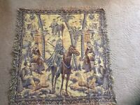 wall hanging tapestry/ Table Covering Looks Middle Eastern 39x39 Very Soft Cloth