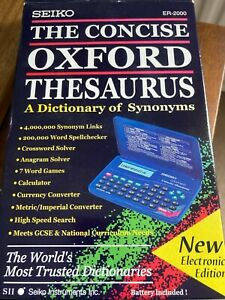 Seiko Oxford Concise Thesaurus ER2000 - Boxed, instructions & never used!