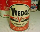 GREAT+SHAPE+%2A%2A%2A+1940s+era+VEEDOL+MOTOR+OIL+Old+Soldered+Seam+Tin+1+quart+Can
