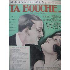 YVAIN Maurice mechanisch Chant Piano 1922 Partitur sheet music score