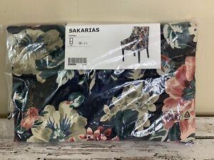 Ikea SAKARIAS Armchair Dining Chair Cover Lingbo Black Dark Floral