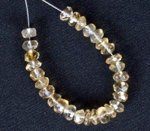 "CITRINE 3.5-4.5mm Faceted Rondelle Gemstone Beads 3.5"" strand"