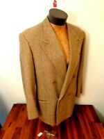 Emporio Armani Brown 100% Wool Jacket 40 Double Breasted Coat Solid Men S M