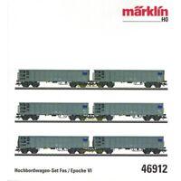 **Märklin 46912 H0 AC 6-tlg. Hochbordwagen-Set Fas, SBB Cargo, Neu OVP**