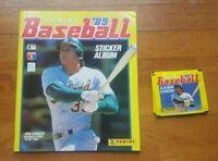 Panini Baseball 1989 5 Tüten + Leeralbum Album MLB 89 Starter Set Pack Bustina