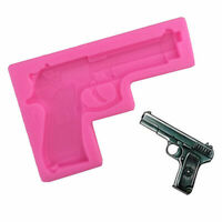 "Gun Pistol Silicone Cake Chocolate Mould Fondant Mold Sugarcraft Baking""s High q"