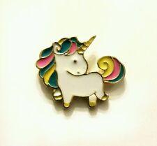 Mini pastel and gold unicorn kawaii enamel pin badge 20mm