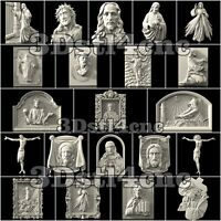 21 3D STL Models Religion Jesus for CNC Router Carving Machine Artcam aspire