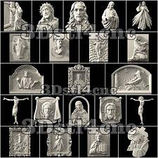 21 3D STL Models Religion Jesus for CNC Router Carving Machine Artcam aspire