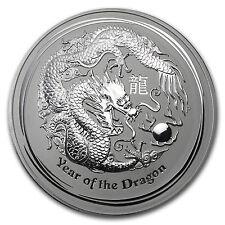 2012 Australia 1 kilo Silver Year of the Dragon BU - SKU #62668