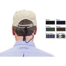 Croakies Lid Latch Silver Blue Herringbone/Navy Secure Metal Hat Clip Bulldog