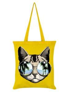 Tote Bag California Dreaming Yellow 38x42cm