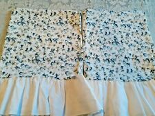 Set Of 2 Vintage Pillowcases Pequot No Iron Muslin Ruffled Floral Shabby Chic