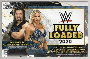 2020 TOPPS WWE FULLY LOADED FACTORY SEALED HOBBY BOX 1 ENCASED AUTO PER BOX