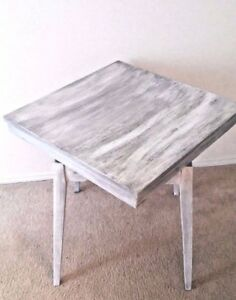 Rustic Distressed   Coffee Table square wood White. Rotating coffee table