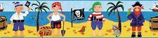 Pirates Peel & Stick Wall Border Kids Room Wallpaper Treasure Island Decor