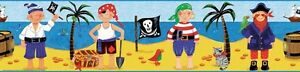 Pirates Peel & Stick Wall Border Kids Room Wallpaper Treasure Island Decor