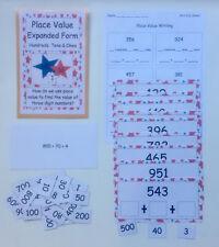 Teacher Made Math Center Game Place Value Expanded Form Hundreds Tens Ones