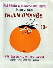 1960s Funny Face drink mix pack Injun Orange replica fridge magnet - new!