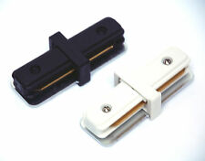 1pc [ I connector ] Accessory for [ L Style 1 Way 2 Wires ] Track Lighting White