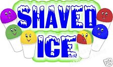 "Shaved Ice Decal 36""  Shave Ice Snow Cones Concession Cart Food Truck Vinyl"
