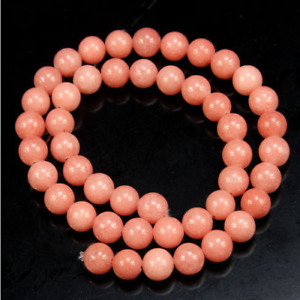 6-12mm Pink Morganite Round Gemstone Loose Beads 15''AAA'