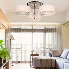 Modern 3 Light Glass Chandelier Drum Shade Pendant Lighting Ceiling Fixture Lamp